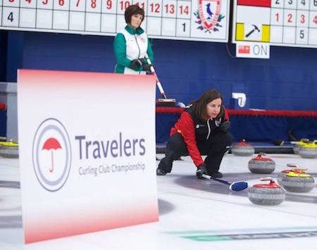 Action from the 2014 Travelers Curling Club Championship in Halifax. (Photo, Travelers/Anil Mungal)