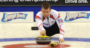 Ford Men's World Curling Championship.Canadian skip Jeff Stoughton.