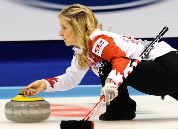 Jennifer Jones and her Winnipeg team were victorious on the weekend in Morris, Man. (Photo, World Curling Federation/Ricard Gray)