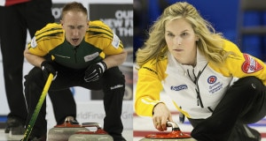 2015, Calgary Ab, Tim Hortons Brier, Northern Ontario skip Brad Jacobs, Curling Canada/michael burns photo