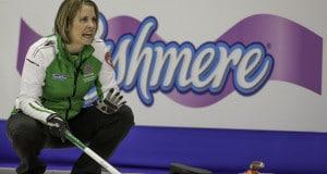 Team Saskatchewan, skip Stefanie Lawton, third Sherry Anderson, second Stephanie Schmidt, lead Marliese Kasner, Coach Rick Folk, the 2015 Scotties Tournament of Hearts, the Canadian Womens Curling Championships, Moose Jaw, Saskatchewan