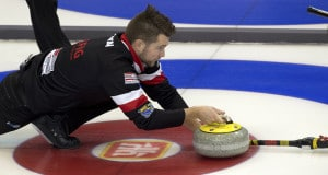 Grande Prarie AB, Dec 5, 2015, Home Hardware Canada Cup Curling, Team McEwen skip Mike McEwen, Curling Canada/ michael burns photo