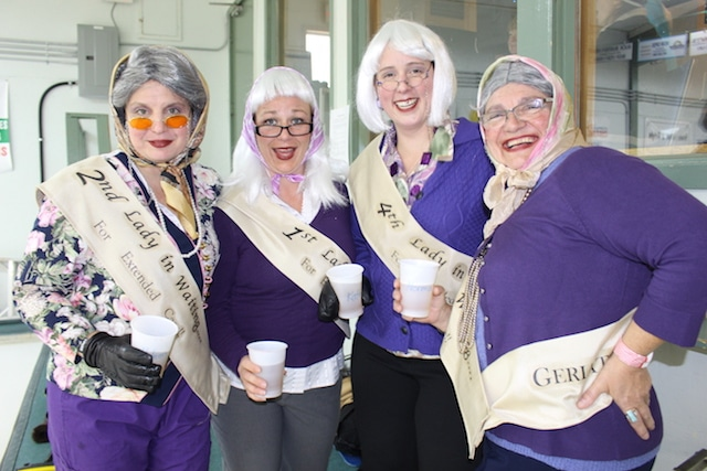 """In the last three years we have introduced a theme that has resulted in costumes to add to the fun. We are consistent with the colour purple,"" says organizer Muriel Anderson. Pictured here: The Grannies (Photo courtesy Muriel Anderson)"
