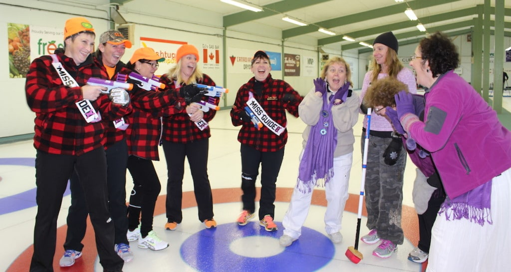 Skip to Equip teams face off on the ice at the Sioux Lookout Curling Club (Photo courtesy of Muriel Anderson)