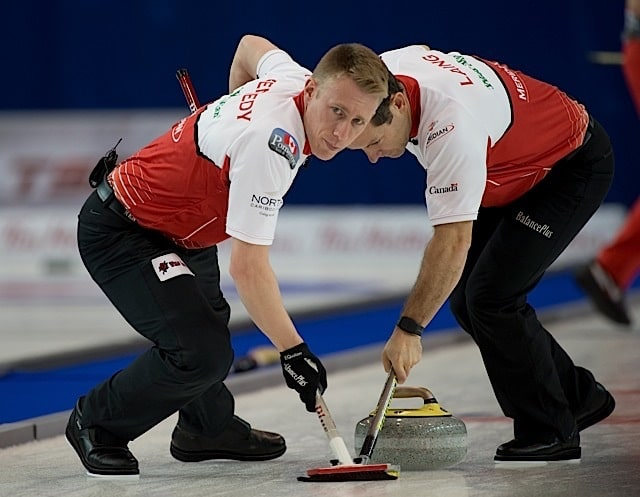 Marc Kennedy and Ben Hebert (Curling Canada/Michael Burns photo)