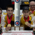Stratford Ont.Jan 31 2016.Canadian Junior Curling Championship.Manitoba skip Matt Dunstone,third Colton Lott, second Kyle Doering, lead Rob Gordon, coach Calvin Edie, Curling Canada/ michael burns photo