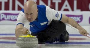 Las Vegas Nevada, Jan16, 2016.World Financial Group Continental Cup of Curling 2016. Team North America skip Kevin Koe (Canada) Curling Canada/ michael burns photo