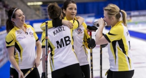 Team Manitoba wins and makes the playoff picture clear here at the 2016 Scotties Tournament of Hearts, the Canadian Womens Curling Championships, Grande Praire, Alberta