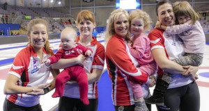 Team Canada and daughters, the 2016 Scotties Tournament of Hearts, the Canadian Womens Curling Championships, Grande Praire, Alberta