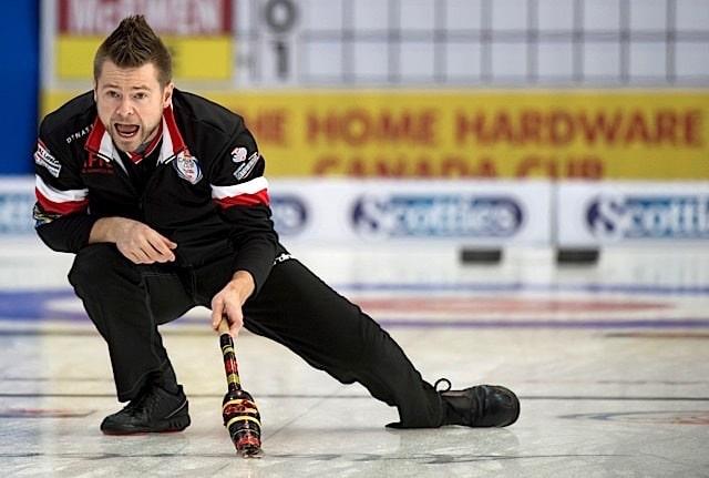 Grande Prarie AB, Dec 4, 2015, Home Hardware Canada Cup Curling, Team McEwen, skip Mike McEwen, Curling Canada/ michael burns photo