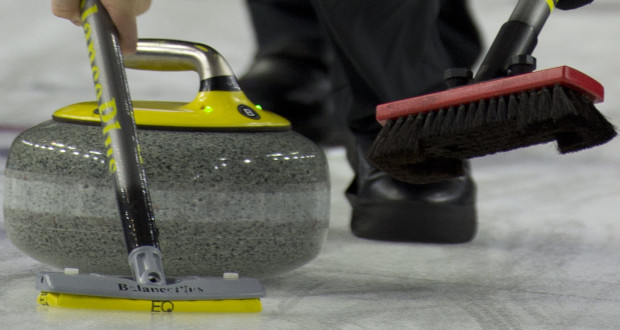 Las Vegas Nevada, Jan17, 2016.World Financial Group Continental Cup of Curling 2016.Team North America skip Kevin Koe, lead Ben Hebert, second Brent Laing, ( Canada) Curling Canada/ michael burns photo