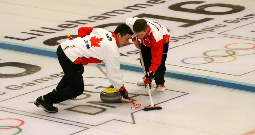 Tyler Tardi and Sterling Middleton in action at the 2016 Youth Olympic Games in Lillehammer, Norway (WCF/Richard Gray photo)