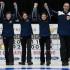 Stratford Ont.Jan 31 2016.Canadian Junior Curling Championship.Nova Scotia skip Mary Fay,,third Kristin Clarke, second Karlee Burgess, lead Janique LeBlanc, coach Andrew Atherton, Curling Canada/ michael burns photo