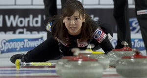 Swift Current Sk, March 23, 2016.Ford World Woman's Curling Championship.Japan third Chinami Yoshida, Curling Canada/ michael burns photo