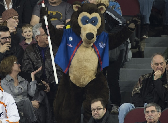 Ottawa Ont.Mar 6, 2016.Tim Hortons Brier.Brier Bear. Curling Canada/ michael burns photo