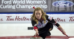 Swift Current Sk, March 20, 2016.Ford World Woman's Curling Championship.Canada skip Chelsea Carey, Curling Canada/ michael burns photo