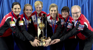 Swift Current Sk, March 27, 2016.Ford World Woman's Curling Championship.Gold medalist Switzerland, Curling Canada/ michael burns photo