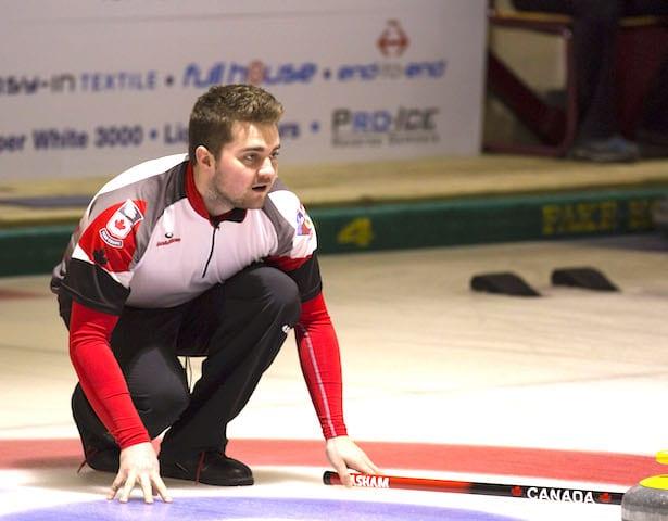 Team Canada skip Matt Dunstone (WCF/Marissa Tiel photo)