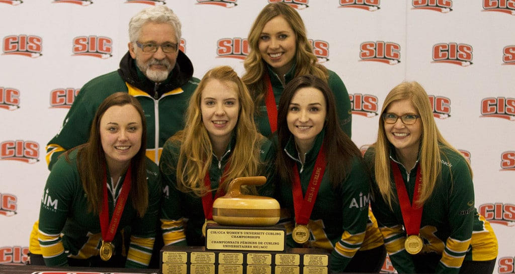 Alberta Pandas Kelsey Rocque, Danielle Schmiemann, Taylor McDonald, Taylore Theroux (back) Garry Coderre, Kristen Streifel (photo by Ken Reid)