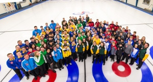 2016 Optimist International Under-18 Curling Championship participants (Detour Photography)
