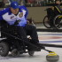 BC skip Frank Labounty delivers his stone at the 2016 Canadian Wheelchair Curling Championship (Curling Canada/Morgan Daw photo)