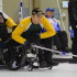 Northern Ontario skip Doug Dean in action at the 2016 Canadian Wheelchair Curling Championship in Regina (Curling Canada/Morgan Daw photo)