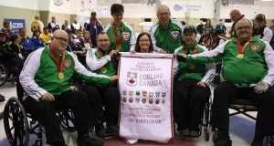 Team Saskatchewan, 2016 Canadian Wheelchair Curling Championship gold medallists (Curling Canada photo)