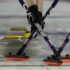 Swift Current Sk, March 23, 2016.Ford World Woman's Curling Championship.Russia  skip Anna Sidorova, second Alexandra Raeva, third Margarita Fomina, Curling Canada/ michael burns photo