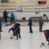 Action on the ice at the Barrie Curling Club during the Development League finals (Photo Sharon Kiley, Barrie Curling Club)