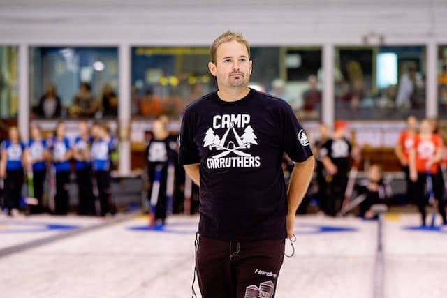 """""""Juniors are the future of our game,"""" says Reid Carruthers. """"We (elite curlers) have to spend the time developing them."""" (Photo courtesy Reid Carruthers)"""