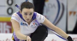 Team Rocque second, Taylor McDonald (Curling Canada/Michael Burns photo)