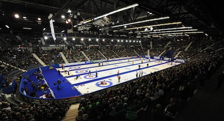 Curling fans packed the Brandt Centre in 2011 at the Ford World Men's Curling Championship. (Photo, Curling Canada/Michael Burns)