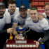Brandon MB,December 4, 2016.Home Hardware Canada Cup of Curling.Team Carruthers, skip Ried Carruthers,third Braeden Moskowy,second Derek Samagalski, lead Colin Hodgson, coach Dan Carey,Curling Canada/michael burns photo