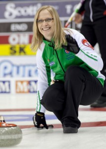 Saskatchewan alone in front at the 2011 Scotties