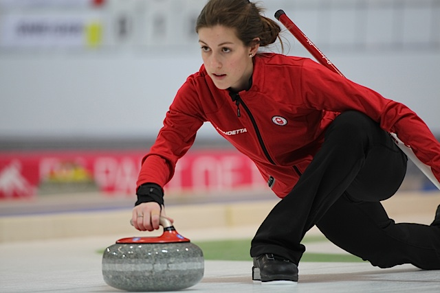 Mixed Doubles curling action underway at Winter Youth Olympic Games