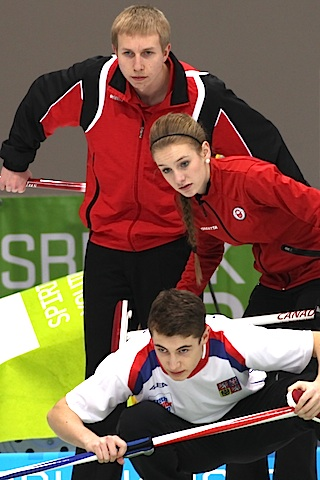 Canada's Corryn Brown through to Mixed Double curling quarterfinals