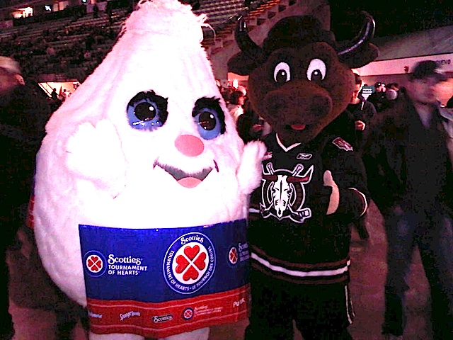 A Meeting of the Mascots in Red Deer