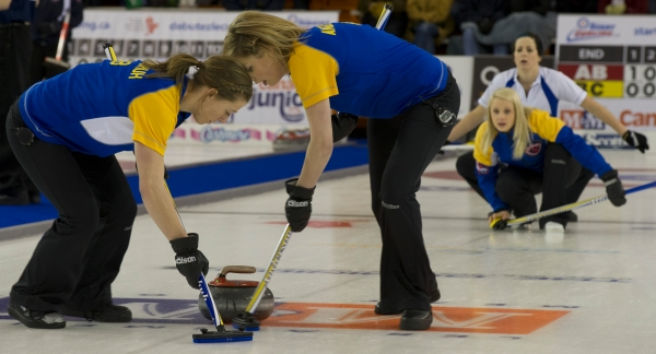 Alberta advances to women's final tonight against Manitoba at Juniors