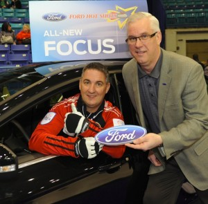 Wayne Middaugh of Ontario is the winner of the Ford Hot Shots at the 2012 Tim Hortons Brier.