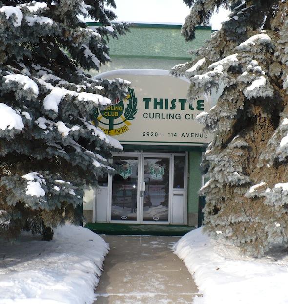 Le plus ancien club de curling d'Edmonton, le chardon, sera l'hôte de de 2015 hommes seniors canadiens et les Championnats de curling féminin. (Photo, courtoisie Thistle Curling Club)