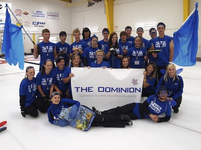 Blue Team won the team Spirit Award for Camp #2. (Photo by Lisa Shamchuk)