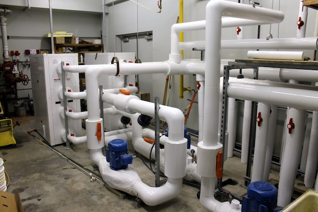 The curling club's new geothermal heating and cooling unit saves on utilities costs and is friendlier for the environment (Photo Fort Frances Curling Club)