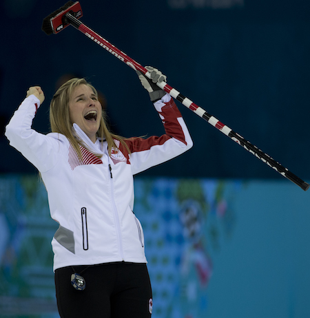 Team Canada skip Jennifer Jones.
