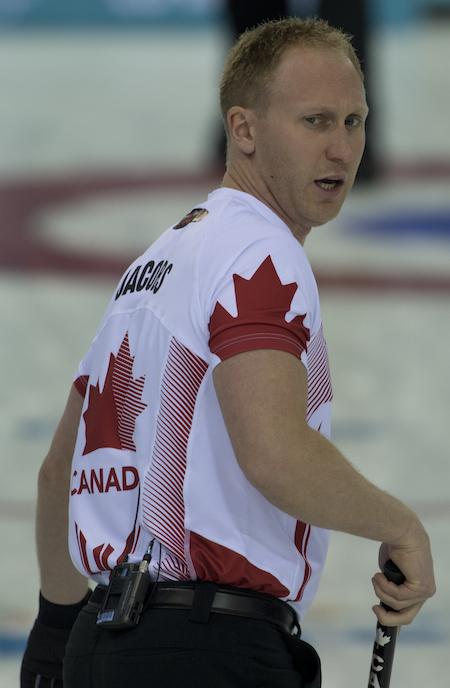 Team Canada skip Brad Jacobs. (Photo, CCA/Michael Burns)