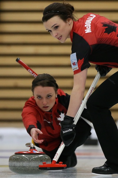 Kelsey Rocque et Taylor McDonald (Photo WCF/Richard Gray)