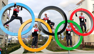Every athlete wants a picture with the Olympic rings!