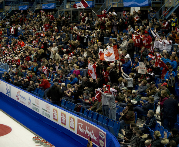 Saint John N.B.Mar15_2014.Ford World Woman's Curling Championship.Canadian Fans.CCA/michael burns photo