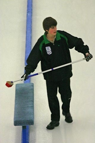 A young Carter Lautner makes his way down the ice (Photo courtesy C. Lautner)