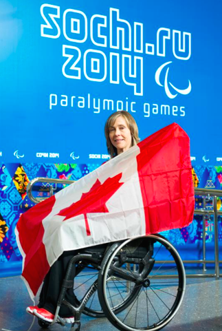 Sonja Gaudet was named Team Canada's flag bearer for the opening ceremony of the 2014 Paralympic Winter Games. (Photo, courtesy Canadian Paralympic Committee)