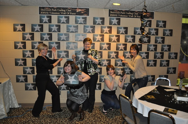 Sherwood Park CC volunteers were recognized with a 'star' on the wall during celebrations at the annual Volunteer of the Year banquet (Photo courtesy Dan Girard)